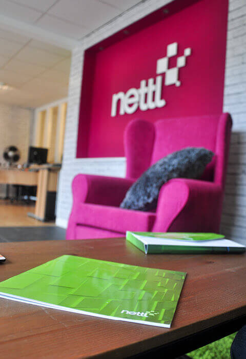 Nettl design studio wall