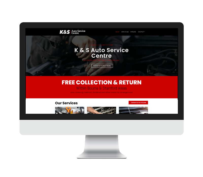 K And S Auto Service Website