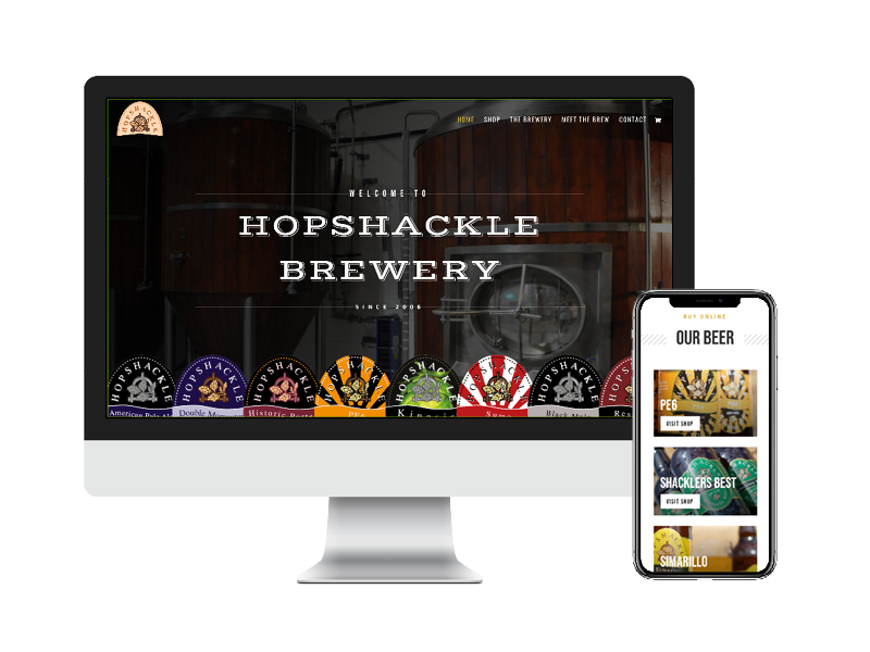 Hopshackle Brewery on desktop and mobile device