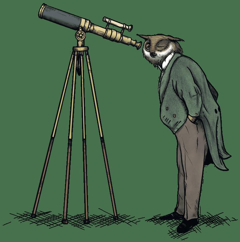Owl-With-Telescope